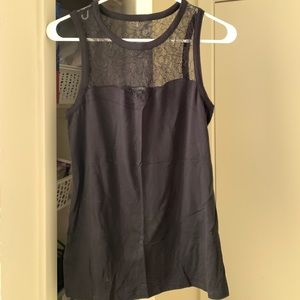 Black tank express size small with lace